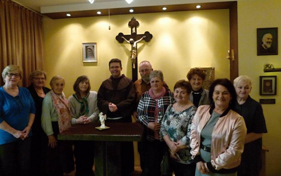 O. Emil i Grupa Michała Archanioła z Parafii św. Franciszka i św. Klary w Tychach